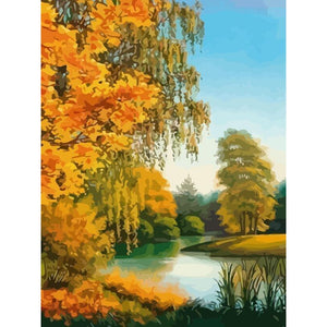 Yellow Peace - DIY Oil Painting on Canvas - Paint By Numbers-EasyWhim