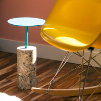 concrete core table made from recycled material