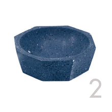 concrete terrazzo decorative bowl dish with recycled concrete