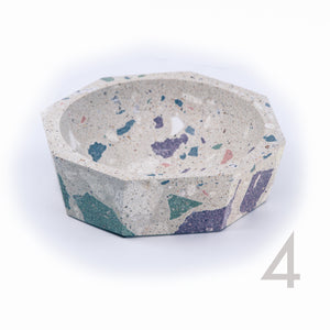 polished concrete terrazzo decorative bowl dish