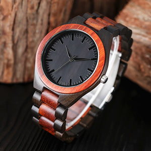 Two Toned Red Pine Wooden Watch