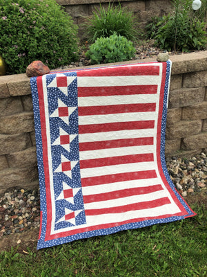 Monday Morning Quilting Quickies - Quick 3-Yard Patriotic Quilt