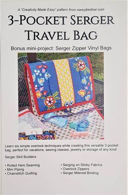 3 Pocket Serger Travel Bag pattern