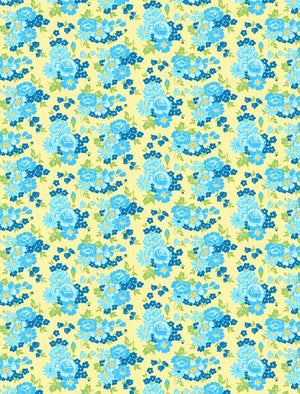 Amorette: Roses Yellow/Blue