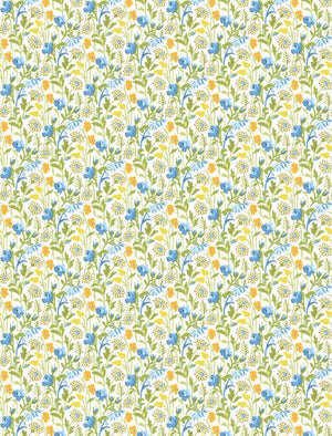 Amorette: Wildflowers Blue/Yellow
