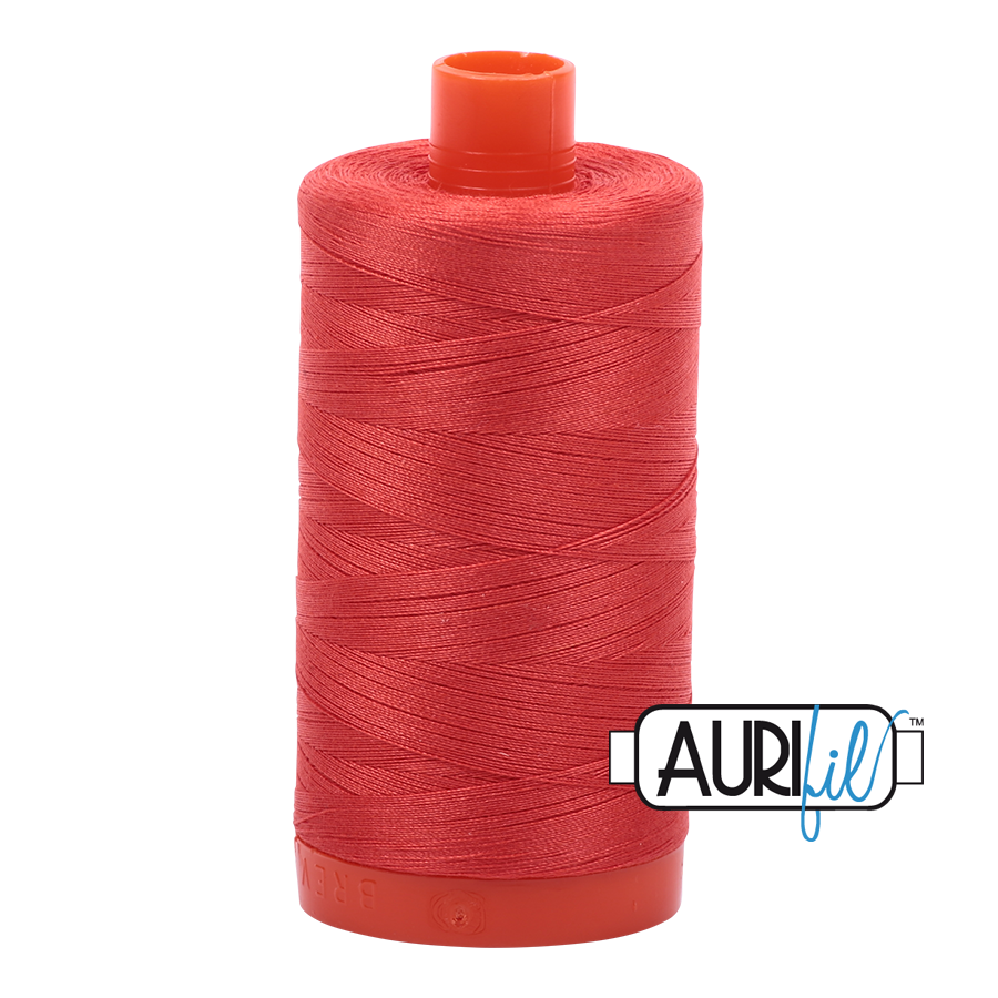 Aurifil 1422yds Lt Red Orange