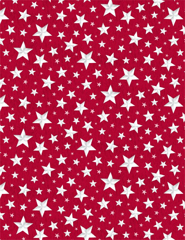 Berry Sweet All Over Stars Red