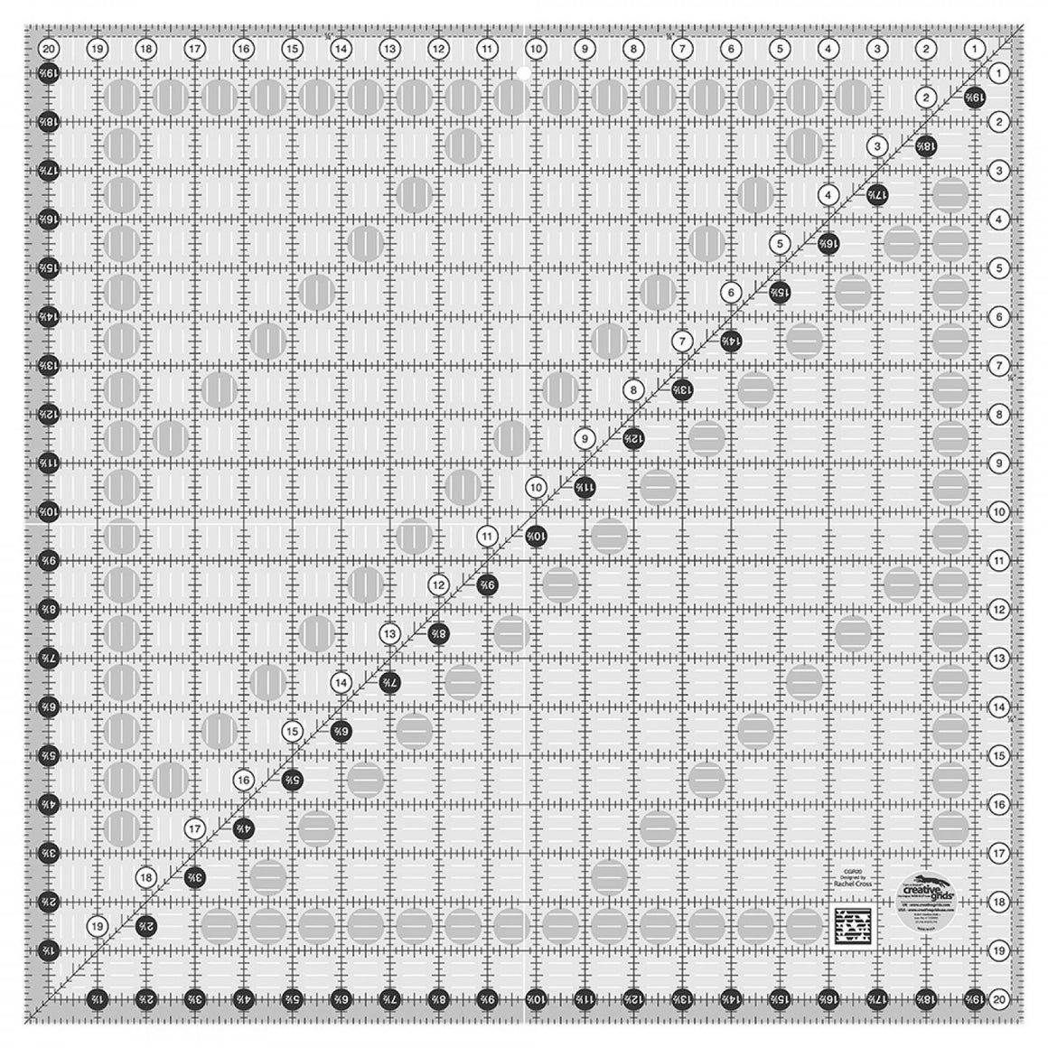 "CGR20  Creative Grids 20.5"" Square Ruler"