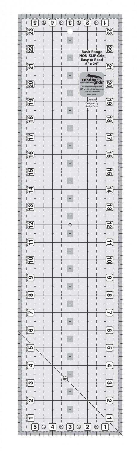 "CGRBR6  Creative Grids Basic Range 6"" x 24"" Rectangle Ruler"