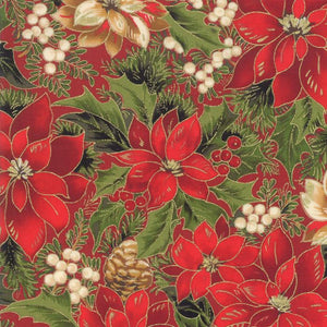 Cardinal Song Metallic: Poinsettia Pine Crimson