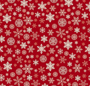 Christmas Delivery: Snowflakes Red