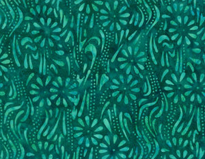 Common Ground: Meandering Flowers Teal
