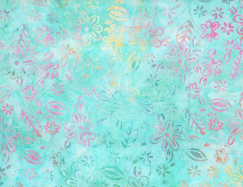 Common Ground: Small Floral Lt. Aqua