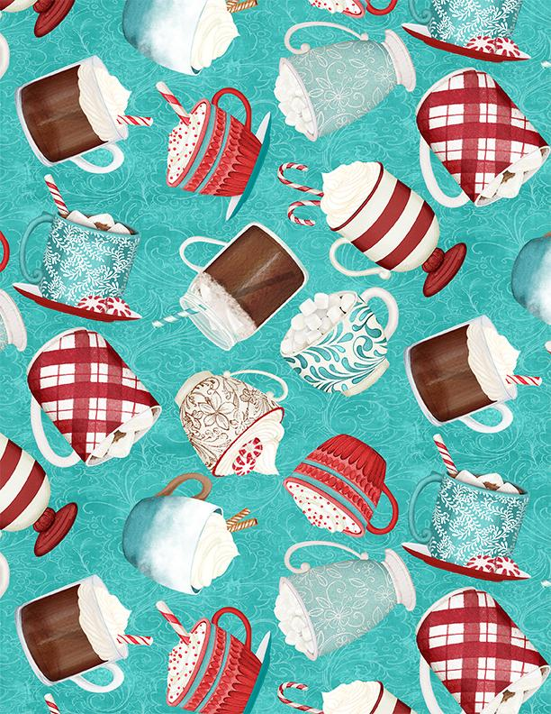 Cuppa Cocoa Tossed Cups Teal