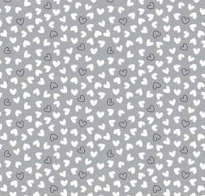 Delilah by Doodlebug Designs: Gray Delilah Hearts
