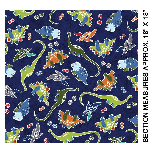 Dino Glow: Tossed Large Dinosaurs Navy
