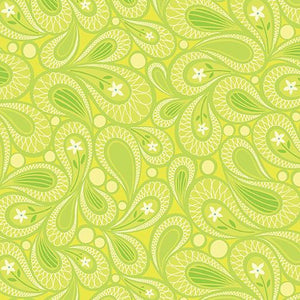 Free Motion Fantasy: Paisley Lime