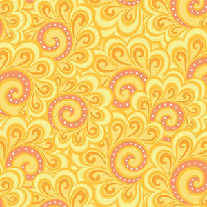 Free Motion Fantasy: Swirl Feather Orange