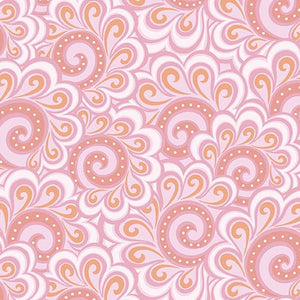 Free Motion Fantasy: Swirl Feather Pink