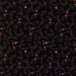 Fresh Cut Flowers: Quilters Floral Double Blooms Black
