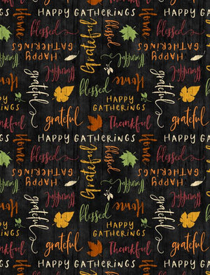 Happy Gatherings Word Toss Black