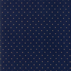 Hickory Road: Dots Dark Blue