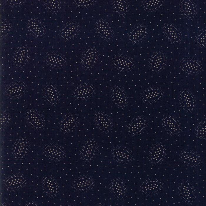 Hickory Road: Ovals Dark Blue
