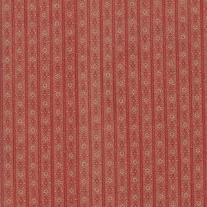 Hickory Road: Stripe Brick Red
