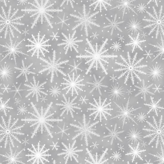 Holiday Wishes Snowflake Gray