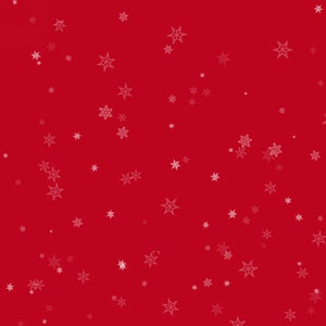 Holiday Wishes Tiny Snowflakes Red