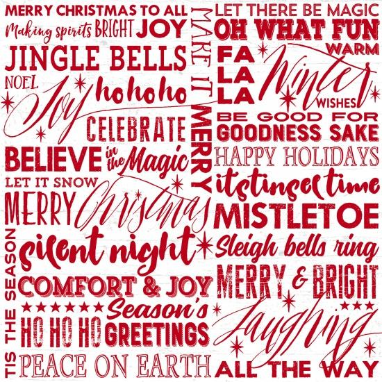 Holiday Wishes Words White