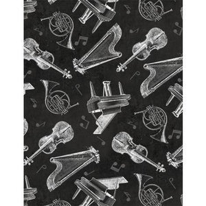 Interlude: Large Toile Black