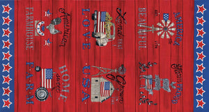 Land That I Love: Patriotic Panel Red
