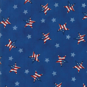 Land That I Love: Tossed Flag Stars Light Blue