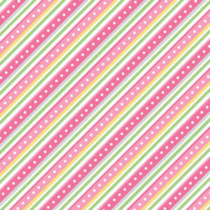 Lil' Sprout Flannel Too!: Diagonal Stripe Pink