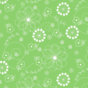 Lil' Sprout Flannel Too!: Doodles Green