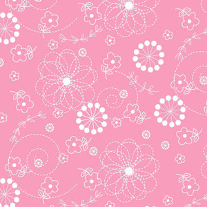 Lil' Sprout Flannel Too!: Doodles Pink