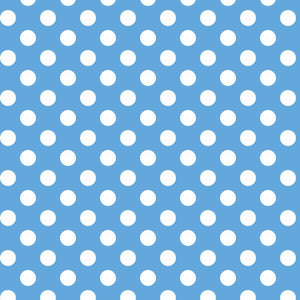 Lil' Sprout Flannel Too!: Dots Blue/White