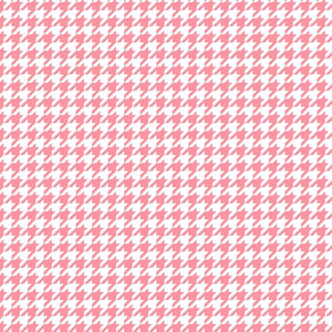 Lil' Sprout Flannel Too!: Houndstooth White/Pink