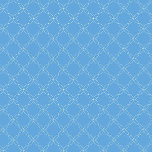 Lil' Sprout Flannel Too!: Lattice Blue