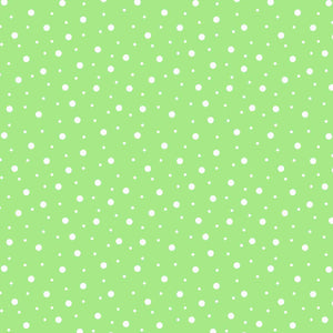 Lil' Sprout Flannel Too!: Random Dots Cool Green/White