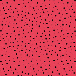 Lil' Sprout Flannel Too!: Random Dots Red/Soft Black