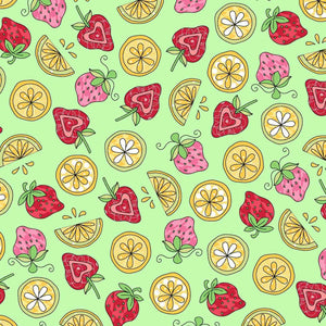 Lil' Sprout Flannel Too!: Strawberries N Lemons Green