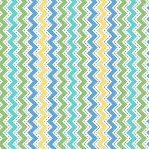 Lil' Sprout Flannel Too!: Zig Zag Flannel Blue