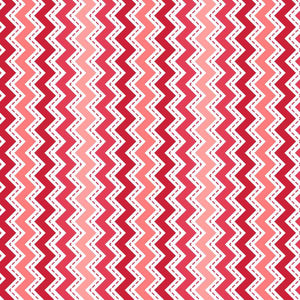 Lil' Sprout Flannel Too!: Zig Zag Flannel Peach/Red