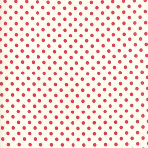 Little Snippets: Floral Dot Red Cream