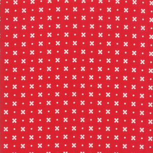 Little Snippets: Floral Stitch Red