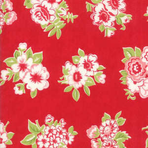 Little Snippets: Marmalade Floral Red
