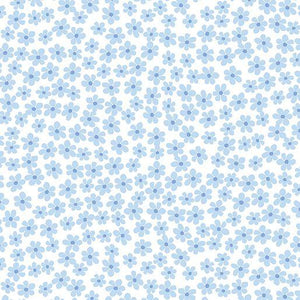 Love Bunny: Daisy Dot Blue/White