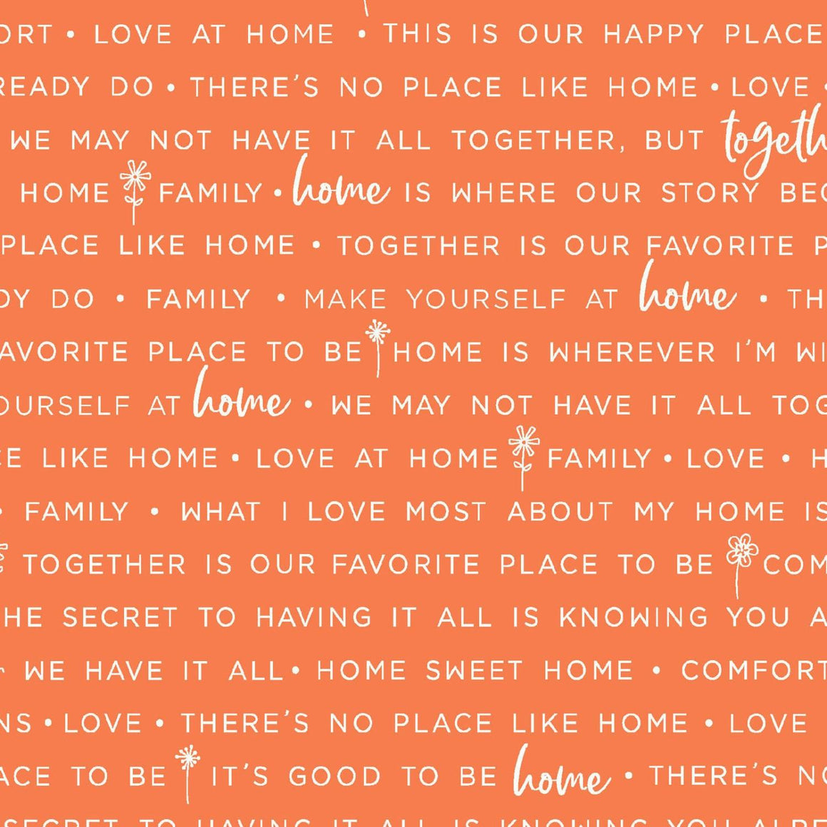 Make Yourself At Home: Home Phrases Orange